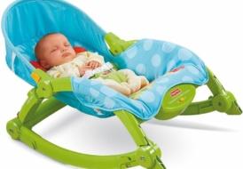 Детский шезлонг (кресло-качалка) Fisher-Price Deluxe 2 в 1
