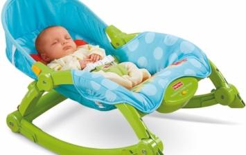 Детский шезлонг (кресло-качалка) Fisher Price «Deluxe 2 in 1»