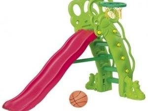 Горка Горошина с баскетбольным кольцом.